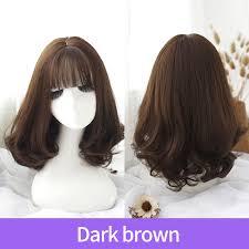 wig female short hair long curly hair