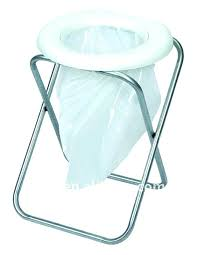portable camp toilet product on camping seat bcf