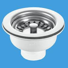 mcalpine kitchen sink stainless steel basket strainer waste plumbers mate ltd
