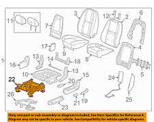 seats for cadillac gm oem front seat seat track 22804418