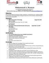 ccna resume samples