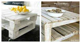 DIY Pallet Table With Hairpin LegsPallet Coffee Table Diy