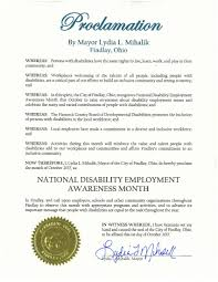 October 2017 Proclaimed As National Disability Employment Awareness