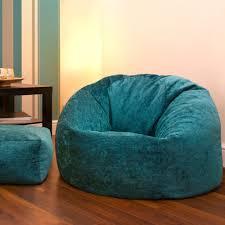 chenille teal bean bag chair
