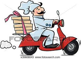pizza delivery clipart. Modren Delivery Clipart  Funny Pizza Chef On Scooter Pizza Delivery Fotosearch Search Clip  Art In Delivery V