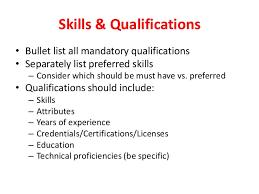 Job Qualification List Career Qualifications List Magdalene Project Org