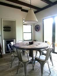 round dining table and tolix chairs yes please