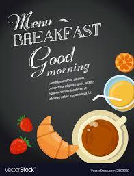 Breakfast Menu Template Breakfast Menu Template Royalty Free Vector Image 3
