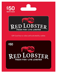 50 red lobster gift card for only 40