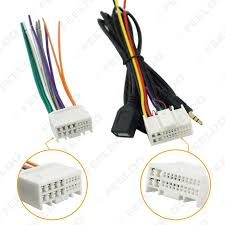 online buy whole hyundai elantra wiring harness from 5pcs car audio cd stereo wiring harness adapter usb aux plug for hyundai ix35