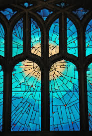 stained glass painting the light
