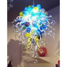 china factory handmade blown murano glass chandelier led light source modern art deco glass