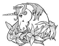Unicorno Tra Magnifici Fiori Disegno Da Colorare Gratis Disegni Da