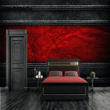 black and red bedroom. Black And Red Bedroom Wallpaper Custom Design Leather Photo White .