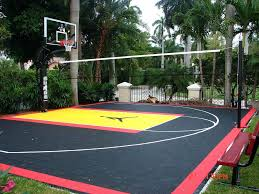 outdoor basketball court painting unique ideas home basketball court design