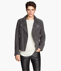 h m men suede biker jacket while the leather biker jacket may be irresistible take