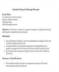 Assistant Property Manager Resume Entry Level Samples Socialumco Inspiration Assistant Property Manager Resume