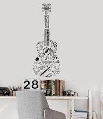 Simple Man Lyrics in Guitar Wall Decal Custom Vinyl Art Stickers.