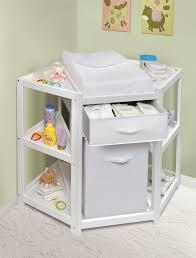 badger basket  diaper corner baby changing table w hamper