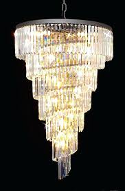 3 tier crystal chandelier g gallery chandeliers glass fringe tiered three gal
