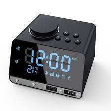 4 2 inch radio bluetooth speaker with alarm clocks dual usb charging port aux card play thermometer kit radio alarm clock am radio radio from lentil