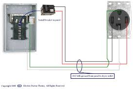 is there an online schematic for dryer hook up to fuse panel graphic