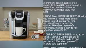 Coffee Maker Carafe And Single Cup Keurig K475 Single Serve Programmable K Cup Pod Coffee Maker With