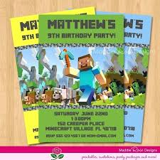 free printable birthday invitations party and minecraft invitation template templates