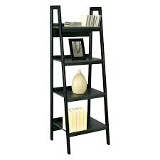 Leaning Bookcase Desk Wall Shelf Black Ladder Plans. Leaning Ladder Bookcase  Walmart Shelf Desk Plans Bookshelf.