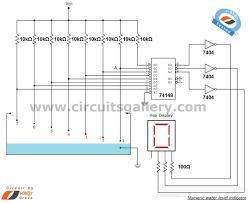 17 best ideas about circuit diagram electrical numeric water level indicator liquid level sensor circuit diagram 7 segment display engineering