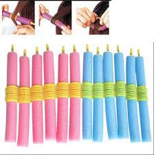 <b>12PCS Soft</b> Twist <b>Soft</b> Foam Bendy <b>Hair</b> Rollers Curlers Cling Strip ...