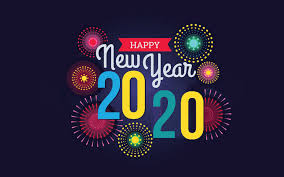 Happy New Year 2020 Fireworks Art Painted Wallpapers Hd