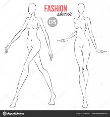 Body Template For Designing Clothes Women Figure Sketch Different Poses Template Drawing Stylist