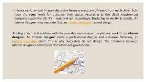 Interior Designer And Decorator Interior Designer And Interior Decorator Difference 71