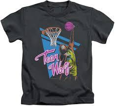 Basketball T Shirt Designs High School Amazon Com A E Designs Kids Teen Wolf T Shirt Slam Dunk Tee