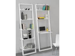 modern leaning ladder shelving storage unit with laptop desk white 2 10662 p white laptop desk