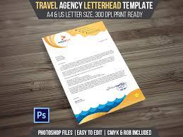 Travel Agency Letterhead Psd Template Landisher