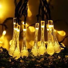 furniture solar outdoor string lights water drop 20led powered led garland light garden fairy
