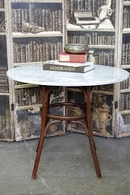 Bentwood Dining Table Vintage Marble Bentwood Bistro Dining Table The Savoy Flea