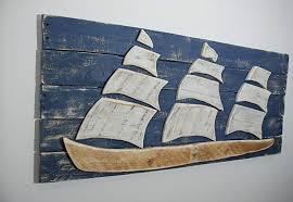 chic design barn wood wall decor com ship sailboat sail boat art reclaimed sofa nautical decorations barnwood a