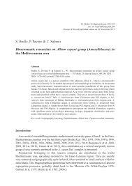 (PDF) Biosystematic researches on Allium cupani group ...