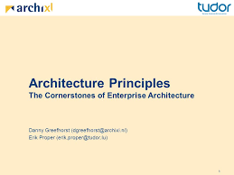 principles of architecture architecture principles the cornerstones of enterprise architecture