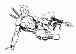 Small Picture Coloring Pages Deadpool Logo And Deathstroke For Adults Pdf mosatt