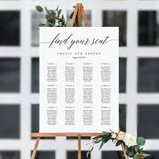 Wedding Seat Chart Poster 7 Sizes Wedding Seating Chart Template Editable Wedding Table