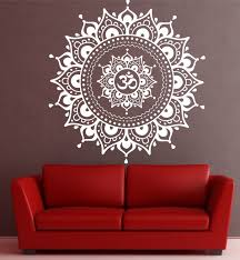mandala wall decal mandala decal yoga om namaste yoga decor wall design of yoga wall art