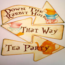 Alice In Wonderland Decorations 8 Alice In Wonderland Signs Arrows Quote Mad Hatters Tea Party
