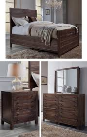 Solid Mahogany Bedroom Furniture Crafted From Rough Hewn Solid Mahogany The Torsten Collections
