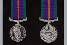 aculated caign service medal
