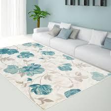blue fl area rug