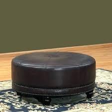 round leather storage ottoman small round leather ottoman circular leather ottoman decor of round leather ottoman round leather storage ottoman